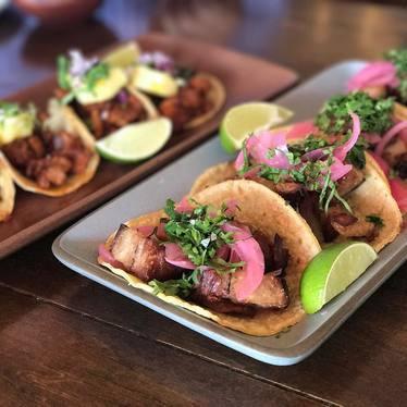 Pork belly tacos at Copita Tequileria y Comida