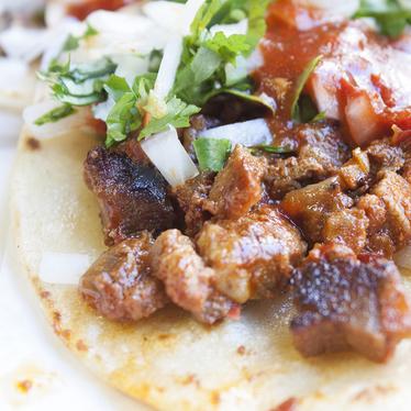 Tacos al pastor at La Choza