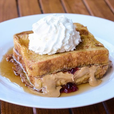 Peanut butter and jelly French toast at Salt & Grinder