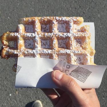 Belgian waffle at Waffle Mania