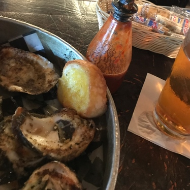 Chargrilled Oysters  at Frankie and Johnny's
