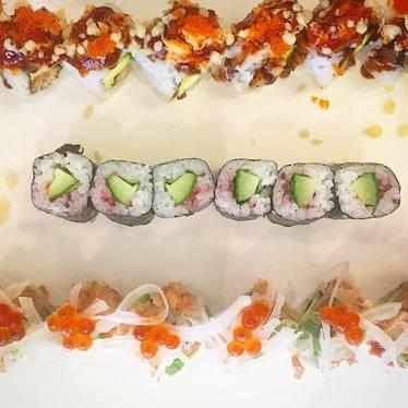 Avocado and Asian plum sushi at Cafe Sushi