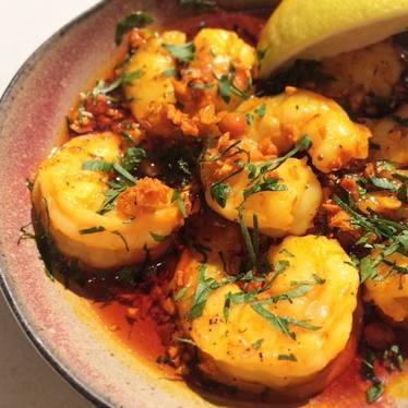 Sizzling shrimp at ABC Cocina