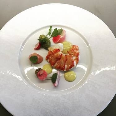 Lobster, avocado and vadouvan at Alo