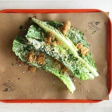 Asian Caesar salad at The Peached Tortilla