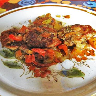 Lamb brains at Kabab Café