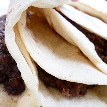 Tacos mole pollo at Nuevo Laredo Cantina