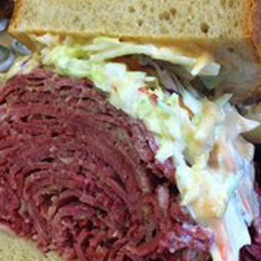 Corned beef combo sandwich at Famous 4th Street Delicatessen