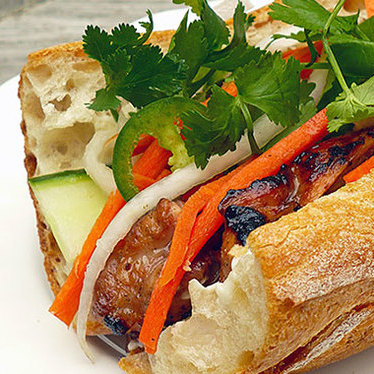 Grilled pork bánh mì at Ba Le Bakery