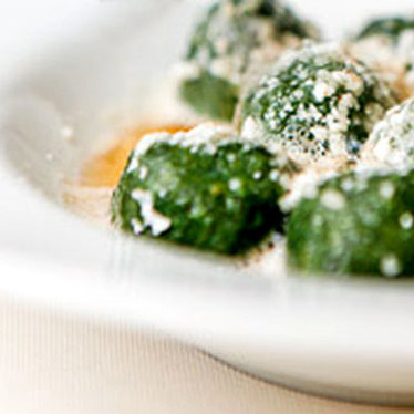 Spinach gnocchi with brown butter at Vetri