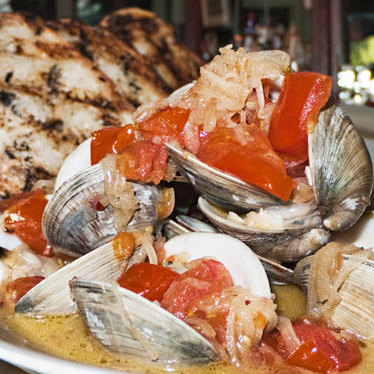 Steamed clams at Southwark