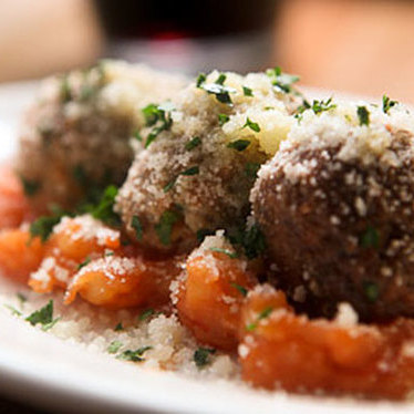 Swordfish meatballs at Amis Trattoria