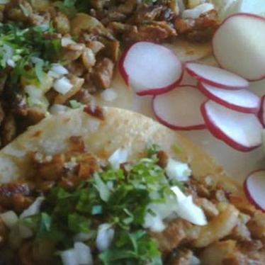 Tacos al pastor at El Zarape