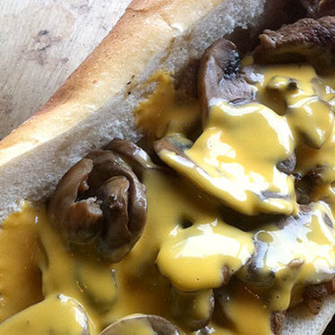 Whiz wit' cheesesteak at Joe's Steaks + Soda Shop