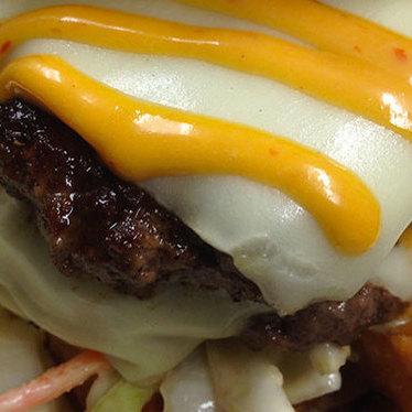 Starlite-style burger at Trina's Starlite Lounge