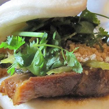 Taiwanese pork bun at Gourmet Noodle Bowl
