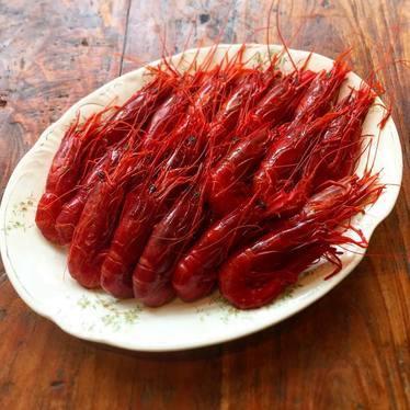 Gamberi rossi red prawns at Le Virtù