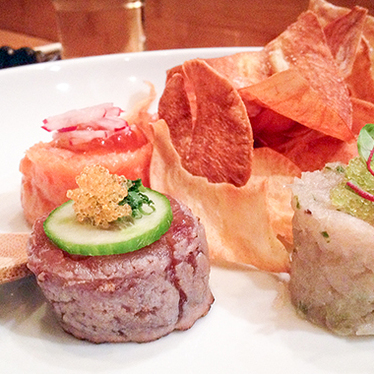 Trio of tartare at Jewel Bako
