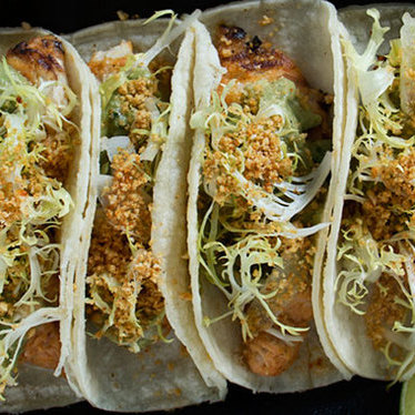 Fish tacos at GT Fish and Oyster