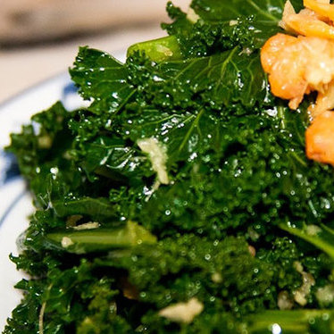Kale, hom ha, dried shrimp, & ginger at Macao Trading Co.