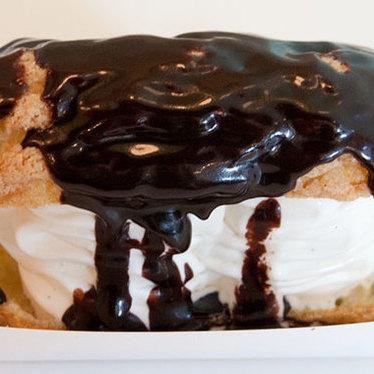 Vanilla custard cookie éclair at ChikaLicious Dessert Bar