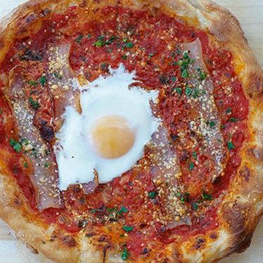 Amatriciana pie at Gialina Pizzeria