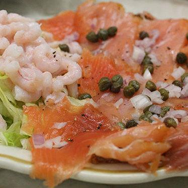 Hot-smoked white fish & cold-smoked salmon at Swan Oyster Depot