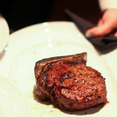 Bone-in ribeye at Mastro's Steakhouse