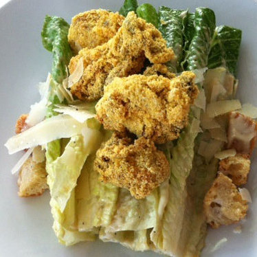 Fried oyster Caesar salad at Flying Fish
