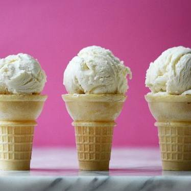 Vanilla bean ice cream at Molly Moon's Homemade Ice Cream