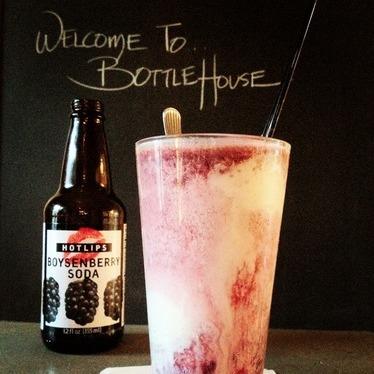 Boysenberry Hot Lips Soda ice cream float at Bottlehouse