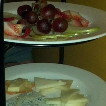 Cheese plate at Vintage Wine Bar