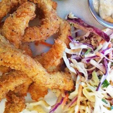 Crunchy catfish & slaw at Jack Allen's Kitchen