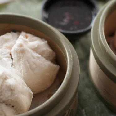 Steamed barbecue pork buns at Monsoon East
