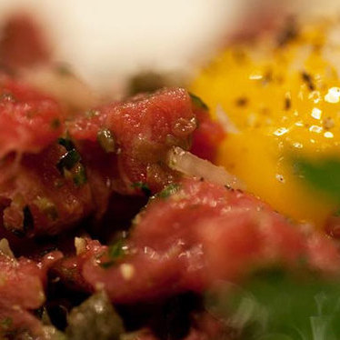 Tenderloin steak tartare at Maude's Liquor Bar