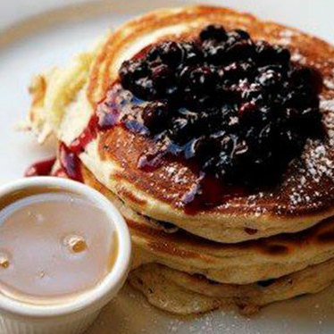 Wild Maine blueberry pancakes at Clinton St. Baking Co. & Restaurant