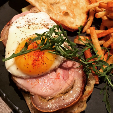 Roasted Porchetta and egg sandwich at Upland