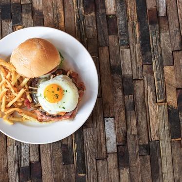 The bin burger at Bin 707 Foodbar