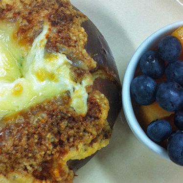 Baked eggs in brioche at Tartine