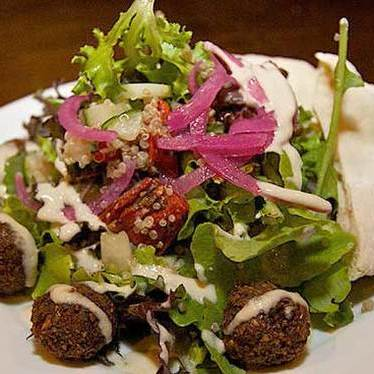 Falafel salad at Three Muses