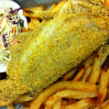 Whole fried catfish at High Hat