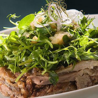 Crispy duck salad at Hakkasan