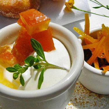 Tangerine creamsicle pot de crème at Michael's Genuine Food & Drink