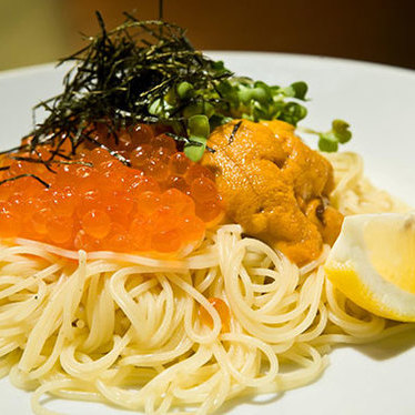 Angel hair uni & ikura pasta at Hiro's Yakko-San