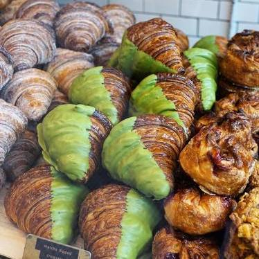 Matcha croissants at Mr. Holmes Bakehouse