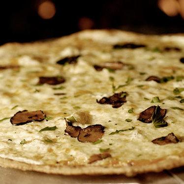 Black & white pizza at Timo