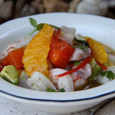 Local wreckfish & local shrimp ceviche at Michael's Genuine Food & Drink