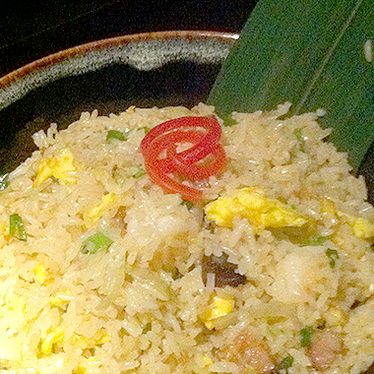 Spicy seafood fried rice at Hakkasan