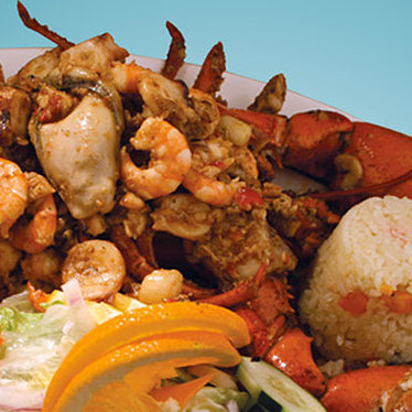 Spicy seafood at Mariscos El Veneno