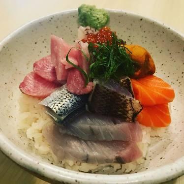 Chirashi sushi at Juku